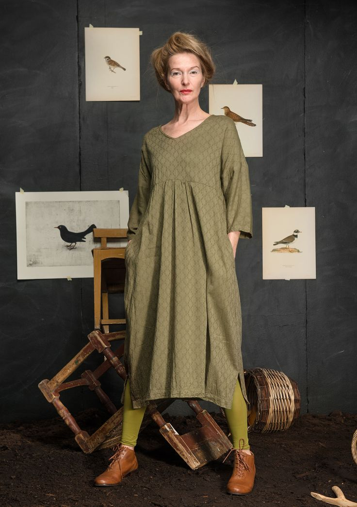 """""""Shadow"""" dress in cotton/rayon – New arrivals – GUDRUN SJÖDÉN – Webshop, mail order and boutiques   Colorful clothes and home textiles in natural materials."""
