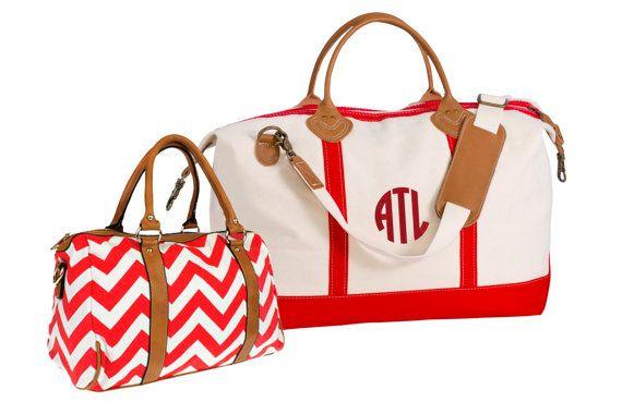 Monogram Canvas Weekend Duffle Bag & Chevron Bag by TetaApparel