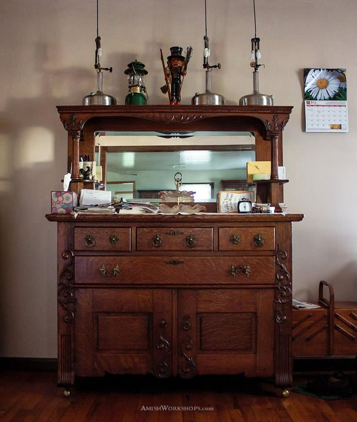 An Antique Sideboard In An Amish Home Amish Mennonite