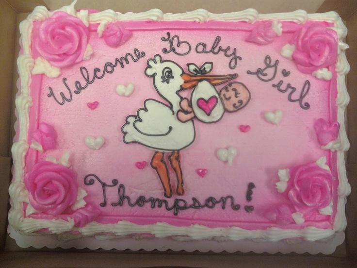Sheet Cake Ideas For Girl Baby Shower