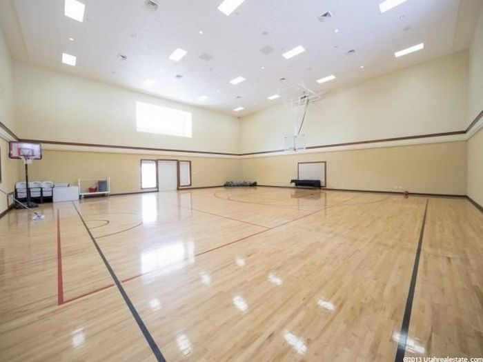 Mansion with indoor basketball court  61 best Indoor Basketball Courts images on Pinterest | Indoor ...