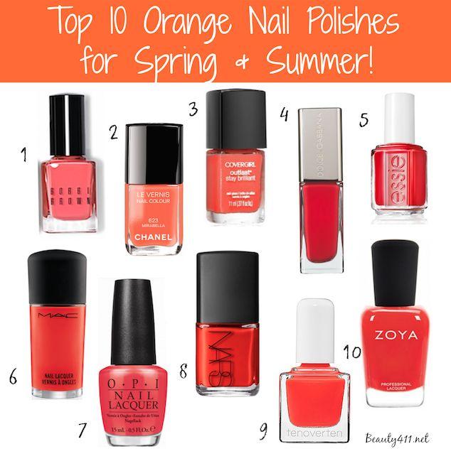 Orange Nail Polish Combinations: Best 25+ Coral Nail Polish Ideas On Pinterest