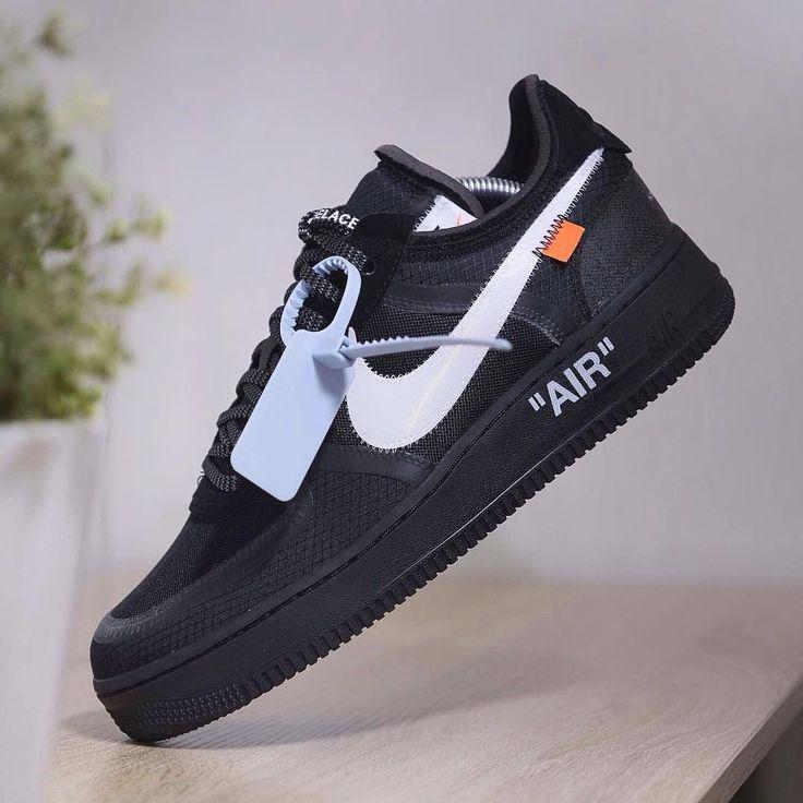 Air Force 1 Low Off-White Black | Chaussure nike jordan, Chaussure ...