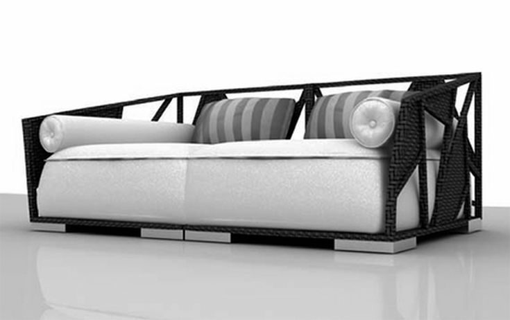 Scenic White Fabric Chaise Lounge Sofa With Black Wicker Rattan Frames As Well As Cool Furniture Also Furniture Sales of Best Cheap Contemporary Furniture Latest Design For Simple Home Decor from Furniture Ideas
