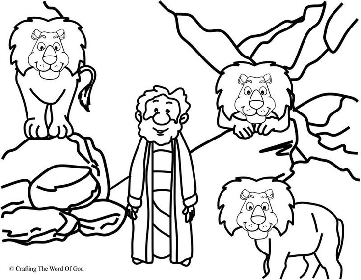 daniel in the lions den coloring page day 4