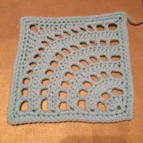 365 Granny Squares Project: A quarter circle.......