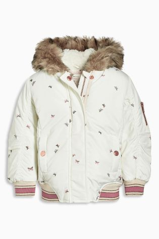 Buy Cream Butterfly Print Bomber (3mths-6yrs) online today at Next: Belgium