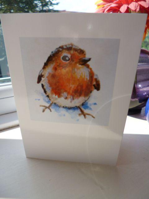 Little Fat Robin Christmas Card