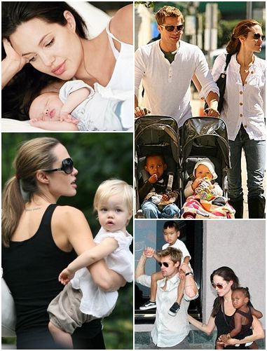 Pitt-Jolie and their adorable family, that's life! cute as can be!