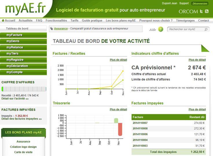 My AE logiciel de comptabilité pour auto-entrepreneur