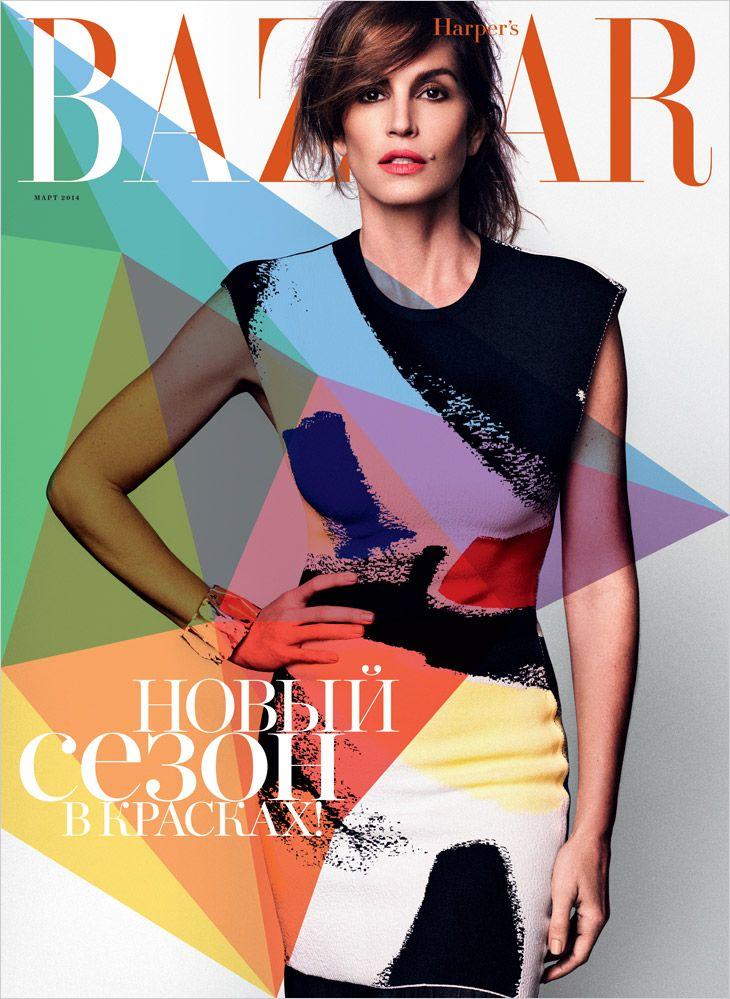 Cindy Crawford  - Bazaar Russia March 2014