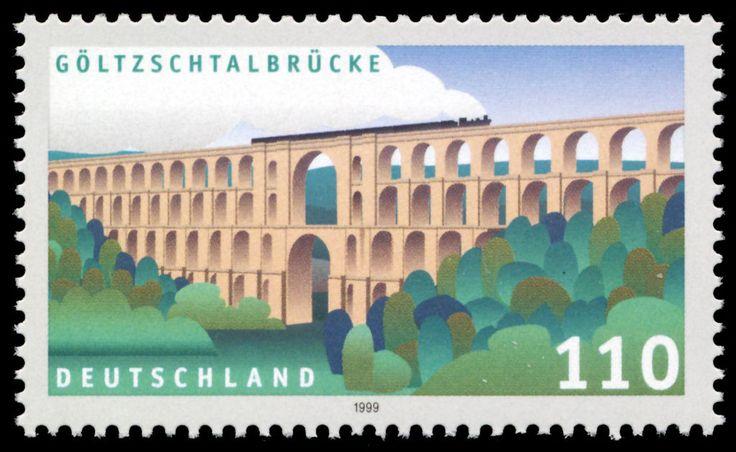 Stamp Germany 1999 MiNr2082 Göltzschtalbrücke.jpg