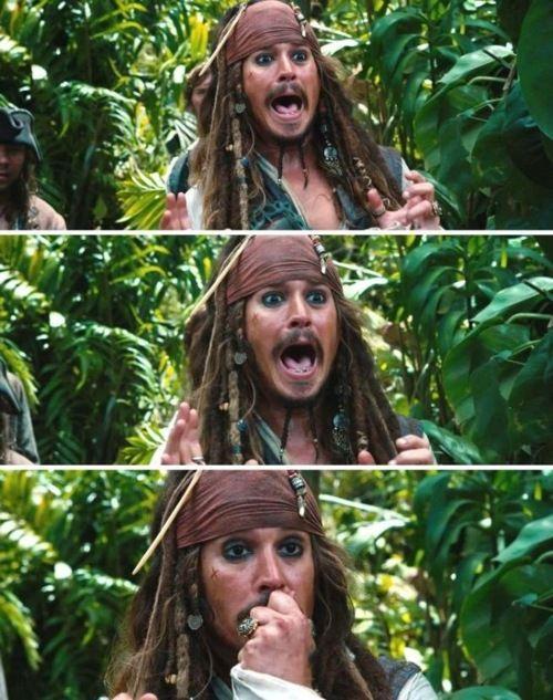 Pirates of the Caribbean... I love his facial expressions haha