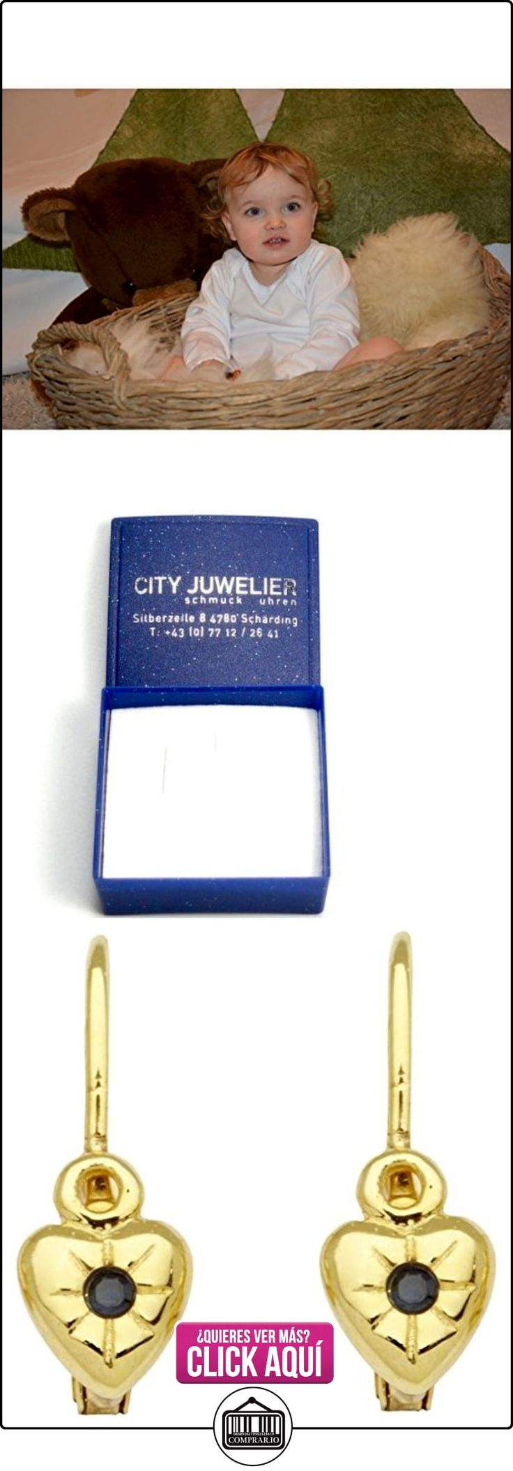 Basic oro KI28 niñas aretes en forma de corazón{14} puiido ({585}) niños joyas oro amarillo azul zafiro  ✿ Joyas para niñas - Regalos ✿ ▬► Ver oferta: https://comprar.io/goto/B00L9BOEI8