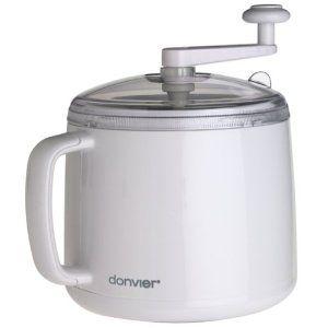 Donvier Ice Cream Maker..no salt or ice needed. Featured on Martha Stewart....gotta get!