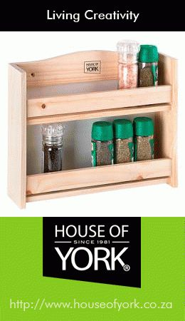 Buy this lovely wooden two-tier spice rack from House of York's online shop. Designed to hold 14 regular sized spice bottles, it's a perfect addition to your kitchen. Buy it here: http://www.houseofyork.co.za/product/spice-rack-2-tier #onlineshop #kitchenware #spiceracks #cooking