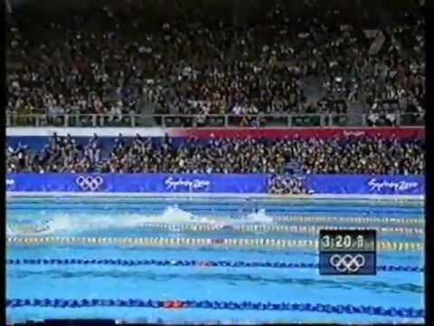 Ian Thorpe Winning gold in the 2000 olympics, in the 400m freestyle