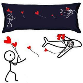 """BoldLoft """"No Matter the Miles"""" Body Pillowcase (Dark Blue)-Romantic Valentines Gifts for Couples,Cute Valentines Day Gift Ideas,Good Couple Gifts for Valentines,Romantic Anniversary Gifts  Price: $32.00"""