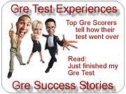 GRE - Good Gre Scores, Read GRE test experiences