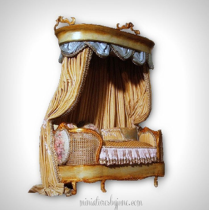 mini doll furniture. provincial alcove miniature dollhouse furniture by june clinkscales mini doll