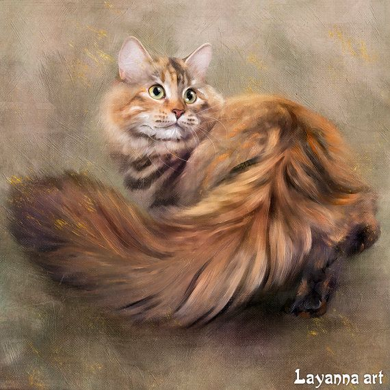 Cat portrait Portrait from photo Custom portrait от LayannaArt Цифровой портрет Сибирской кошки выполненный по фото от руки. Портрет питомца на заказ. Прекрасное украшение интерьера. Красиво, выгодно, быстро. Прекрасный подарок.   digital art, painting. cat art, portrait, картина в интерьер, красивая кошка, цифровая живопись.
