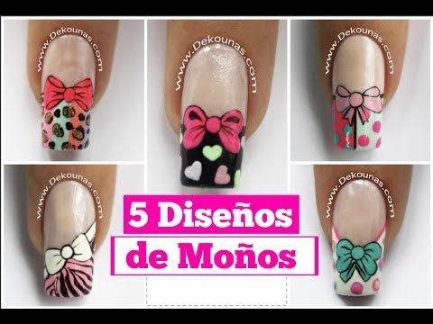3 Diseños de uñas de mariposas Parte 1 - 3 Easy butterfly nail art tutorial - YouTube