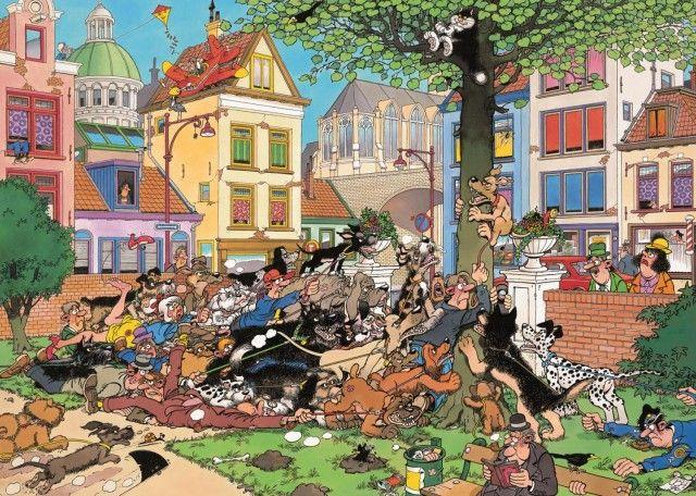 Jan van Haasteren: Pak de Kat (500 stukjes)