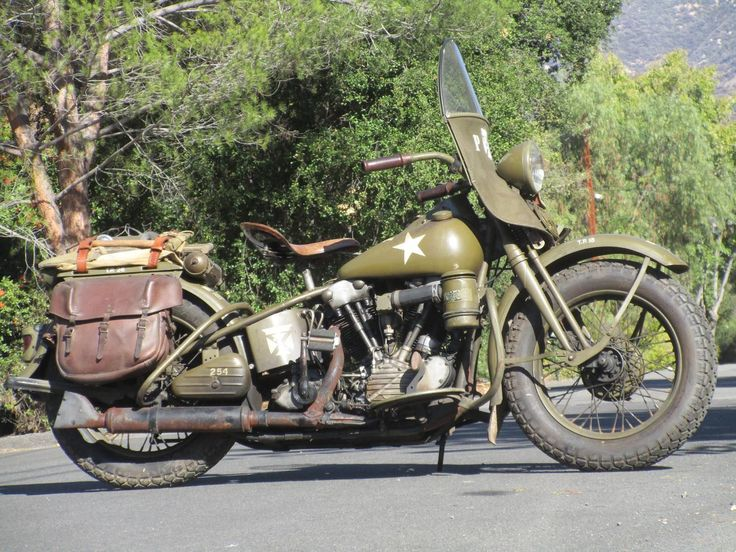 1941 Harley Davidson EL Knucklehead Military Edition in all its glory