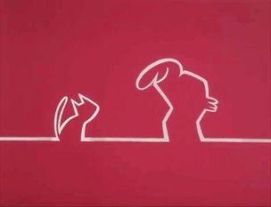 """La Linea (""""The Line"""") by Osvaldo Cavandoli - GIF on Imgur"""