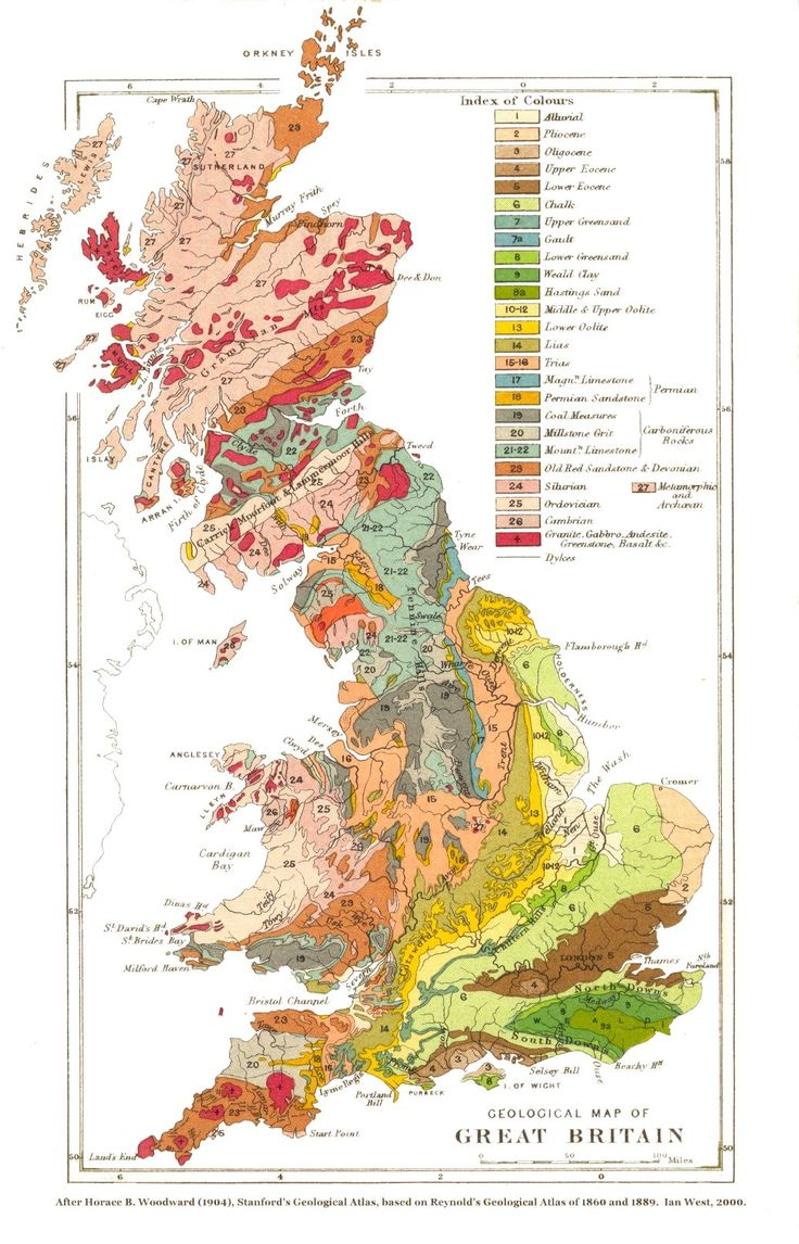 Geological map of Great Britain