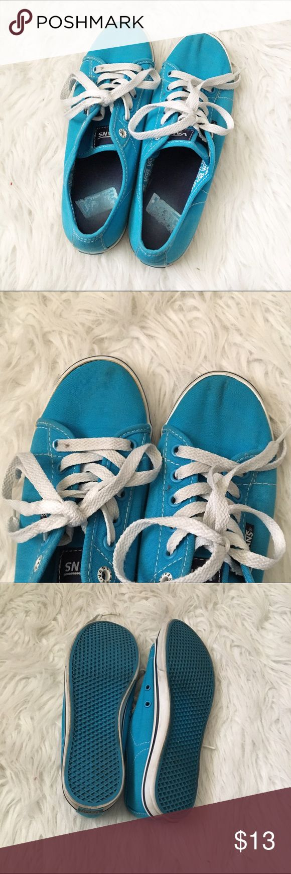 Blue Vans Shoes ❤ NO TRADES ❤ ❤ YES OFFERS ( bundle offers too) ❤ ❤ NO LOWBALLS ❤ ❤ FREE GIFT $25 + ❤ ❤ CLOSET DISCOUNT 15% OFF 2+ ❤ Vans Shoes Sneakers