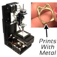 MiniMetalMaker - A small 3D printer that fabricates with precious metal clay.
