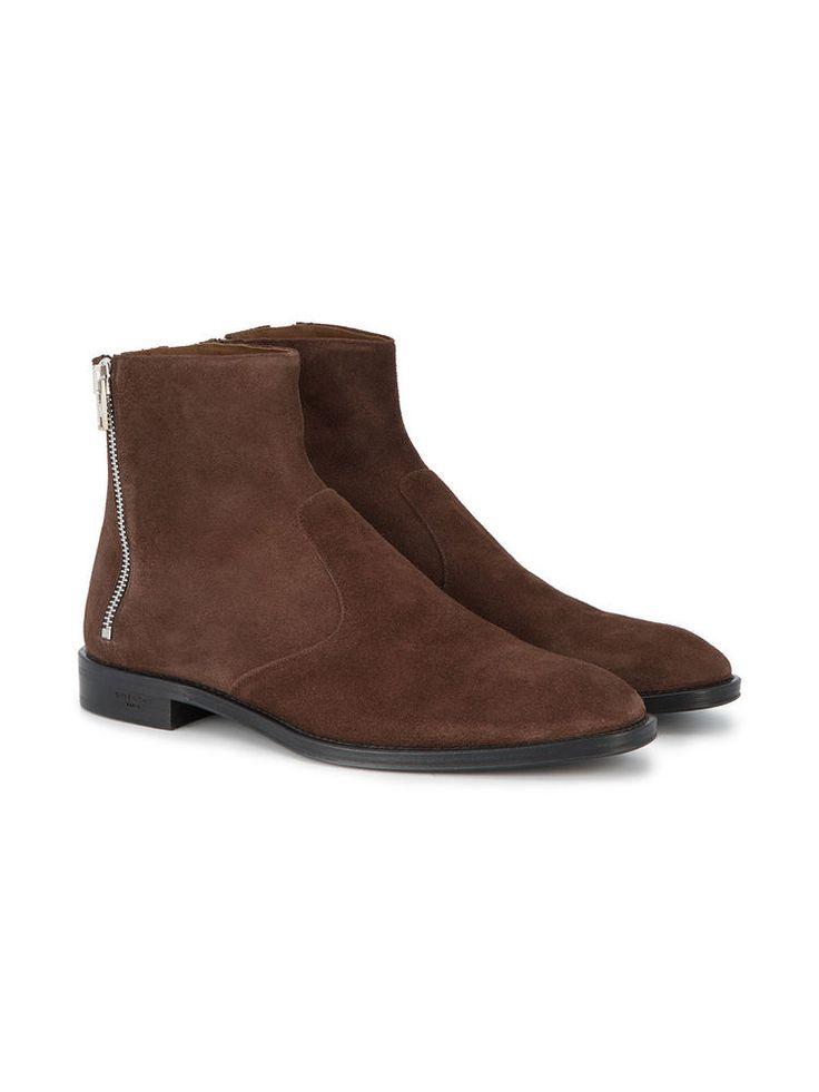 Handmade Men Brown boots, Men brown Suede ankle boots, Mens style zipper boots #Handmade #Ankleboots #Casual