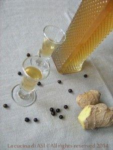 Liquore zenzero e ginepro La cucina di ASI