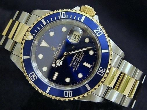 Rolex Submariner in solid 18k gold    You can rest assured though that the Rolex Submariner is amply equipped for both eventualities. It's a true design classic from Rolex, often imitated, but rarely surpassed.
