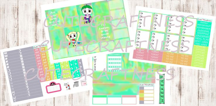 We're The Bad Guys --- Weekly kit --- Erin condren life planner vertical by CuteCraftness on Etsy