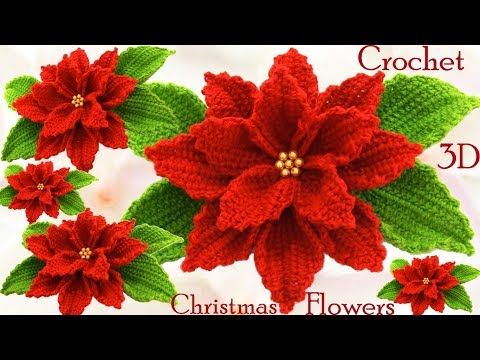 Crochet 3D Christmas Flower – Crochet Ideas