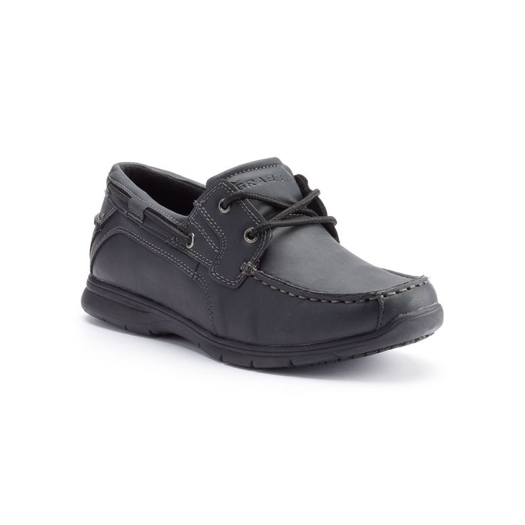 Grabbers Runabout Men's ESD Slip-Resistant Boat Shoes, Size: medium (11.5), Black