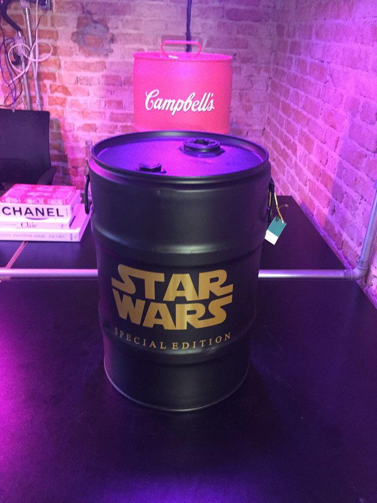 Star Wars #industrialdesign #barril #rebecaguerra #lata #decoração #starwars