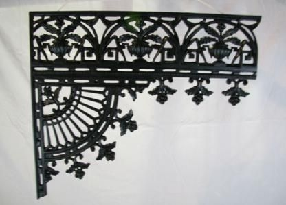 Similar to New Orleans iron lace work.
