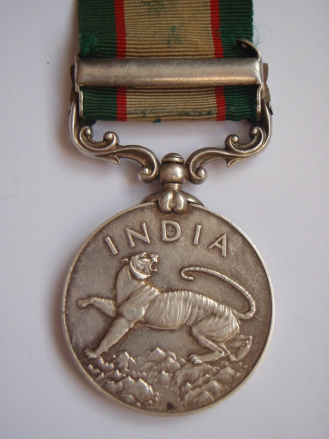 1936 India General Service Medal (Bar - North West Frontier 1936-37) - Royal Artillery (Native)