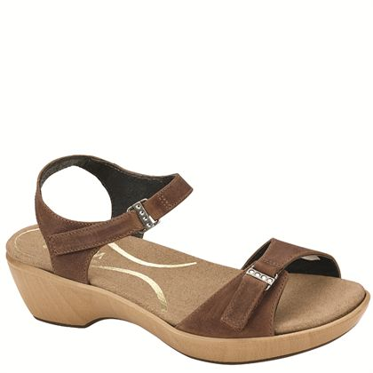Naot Women's Cellar Wedge Sandal, Saddle Brown Leather, 35 M US