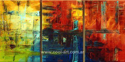 Triptico en oleo sobre tela, Artista : Perez de Cabo
