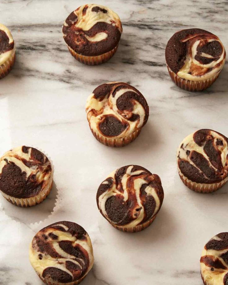 Though unfrosted, these chocolate cupcakes with a marble-topped cream cheese filling aren't lacking in flavor or appearance. Their smooth tops also make them ideal candidates for baking cupcakes to-go.