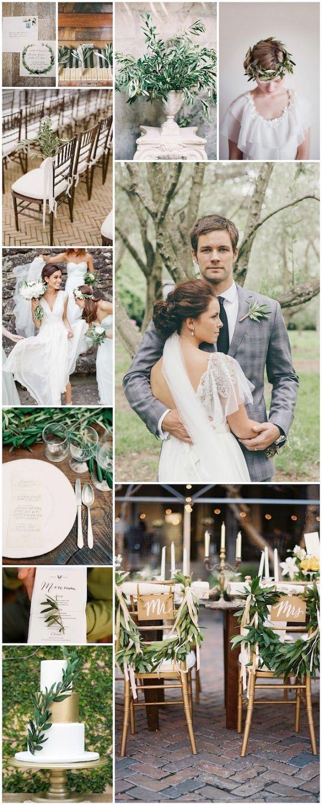 """Olivier, branche d'olivier, olive, huile d'olive, mariage, idées mariage, thème mariage, inspiration, inspiration mariage via """"love sur la comèt"""""""
