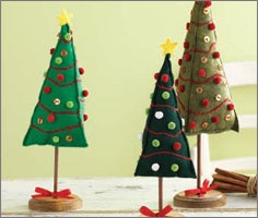 Felt trees by Carol Zentgraf from Stitch Gifts