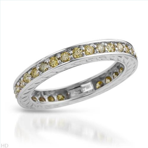 $479.00  Superb Brand New Eternity Ring With 1.05ctw Genuine  Clean Diamonds in White Gold- Size 7 - Certificate Available.