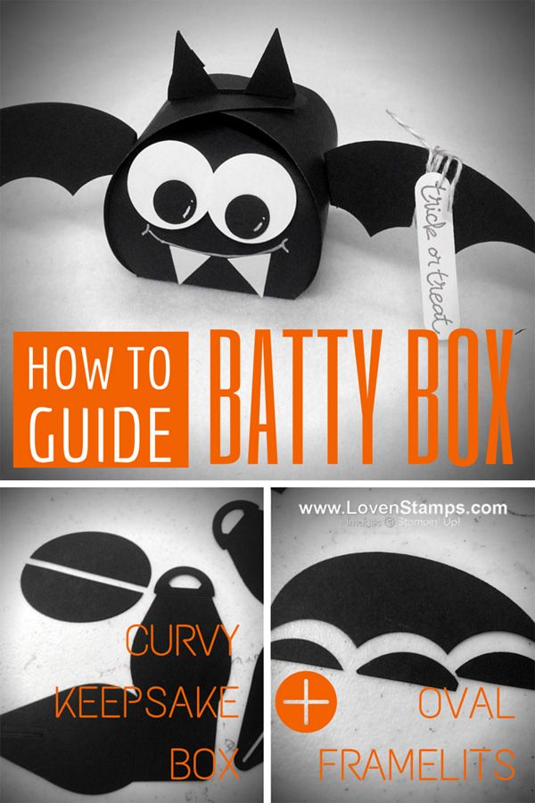 Halloween BAT box with the Curvy Keepsake Box die from Stampin' Up!