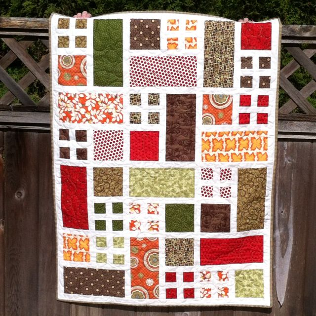 Cute Scrappy Quilt Idea Pic Only No Instructions