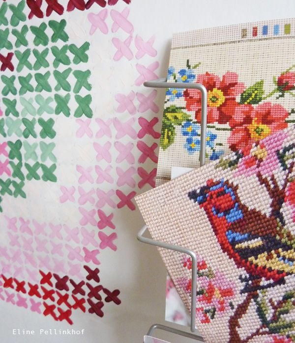 Cross stitch postcards from All the luck in the world, photography by Eline Pellinkhof.